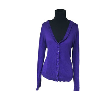 Purple Kenneth Cole Reaction cardigan Sz L…